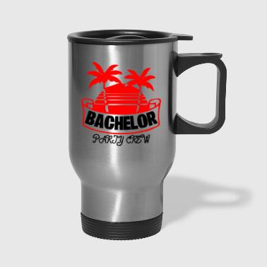 Wiskey GIFT - BACHELOR PARTY CREW RED - Travel Mug
