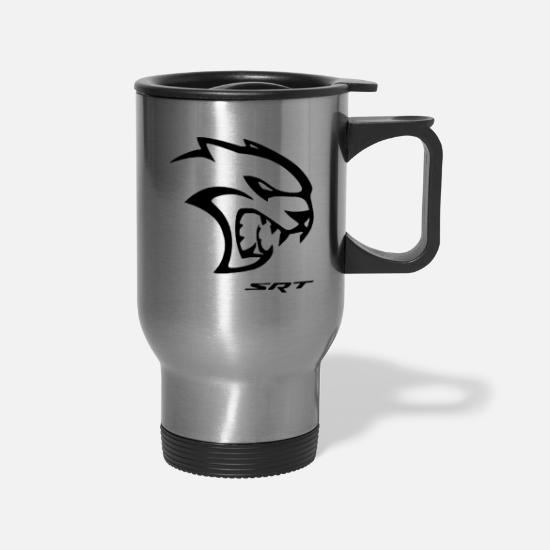 Dodge Mugs & Drinkware - srt hellcat logo - Travel Mug silver