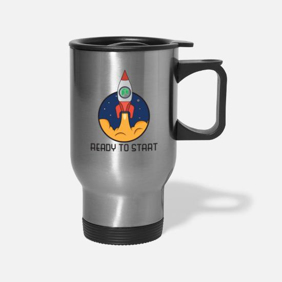 Stock Market Mugs & Drinkware - ready to start neo - Travel Mug silver