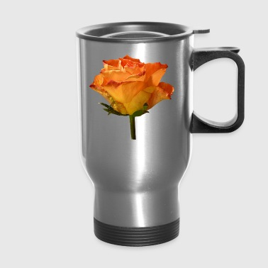 Single Orange Rose - Travel Mug