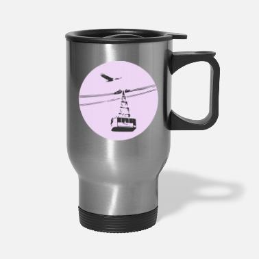 Cable Car Gondola / cable car with eagle purple - Travel Mug