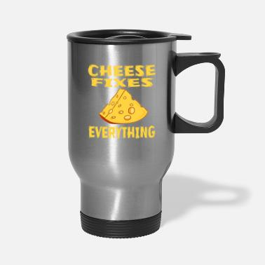 Lol Funny Cheese TShirt for people who are addicted - Travel Mug