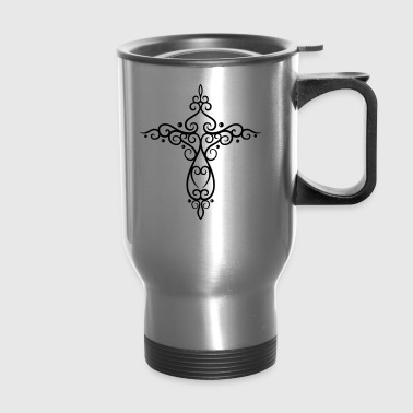 Cross, Crucifix, baroque style. - Travel Mug