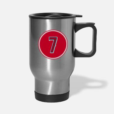 Silver Zack Cozart Number 7 Jersey Los Angeles baseball t - Travel Mug