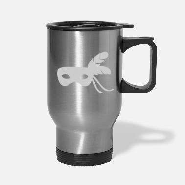 Silver silver mask - Travel Mug
