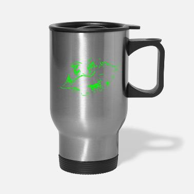 Kissing Lips kiss lips kissing - Travel Mug
