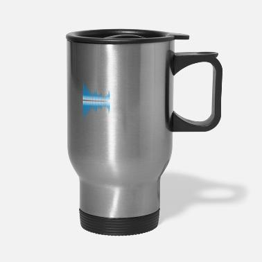 Sounds Sound silence Sound pollution - Travel Mug