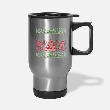Merry Crustmas | Ugly Christmas Sweater Pizza - Travel Mug