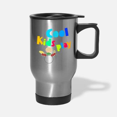 Bass Player Cool Kids Play Drums Music Musician Funny Gift - Travel Mug