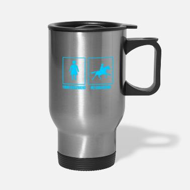 Steal Your and my Girlfriend Horse - Premium Design - Travel Mug