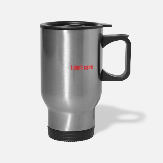 Movie Mugs & Drinkware - WORDS CARE - Travel Mug silver