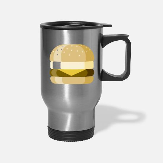 Sandwich Mugs & Drinkware - Breakfast Sandwich - Travel Mug silver