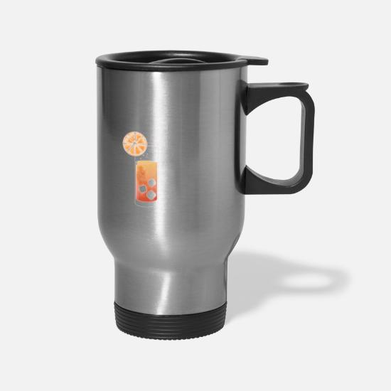 Tequila Mugs & Drinkware - tequila sunrise - Travel Mug silver