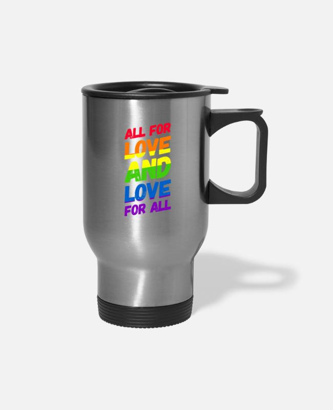 Queer Mugs & Cups - Homosexuality Gay Pride LGBT CSD - Travel Mug silver