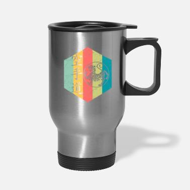 Name Kanji Rainbow-colored design featuring a tiger and kanji - Travel Mug