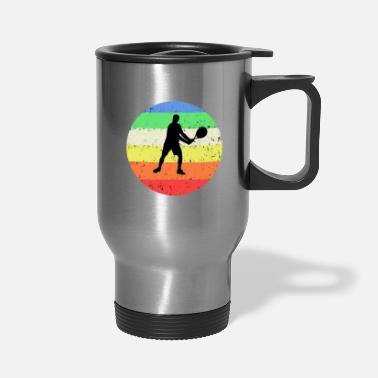 Tennis with colored circle background - Travel Mug