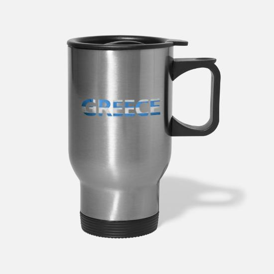 Greek Mugs & Drinkware - Greece - Travel Mug silver