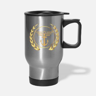 Gangster Anchor with lines - Travel Mug