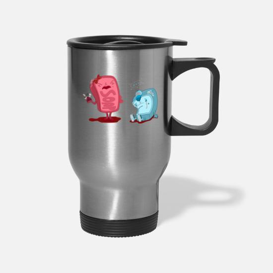 Out Mugs & Drinkware - Wash Out Your Mouth - Travel Mug silver