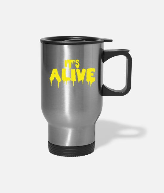 Movie Mugs & Cups - ITS ALIVE - Travel Mug silver