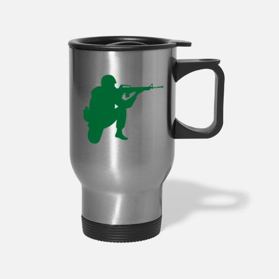 Army Mugs & Drinkware - army - Travel Mug silver