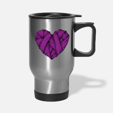 Heart Knit, Heart Break, Heart - Travel Mug