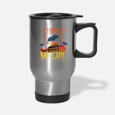 Costume Halloween Cake I Smell Bat Cake Scary Costume - Travel Mug