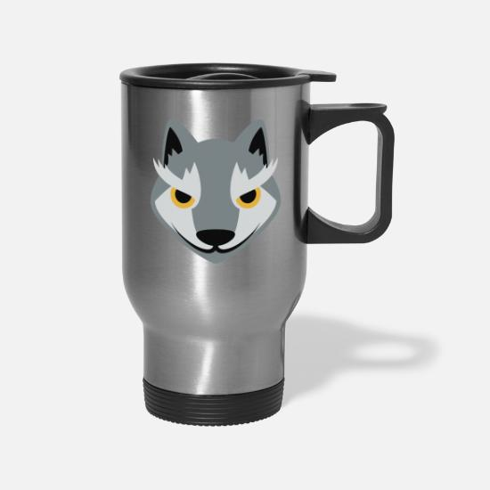 Love Mugs & Drinkware - Wolf - Travel Mug silver