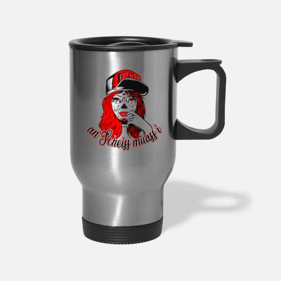 Bavarian Mugs & Drinkware - an Scheiss muass i (a shit, I have to) - Travel Mug silver