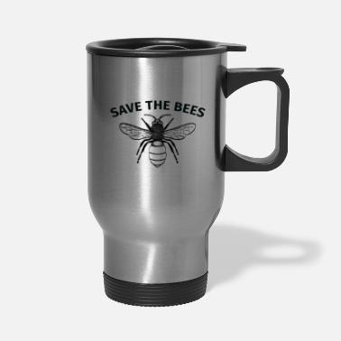 Bee Save the bees awesome design of a bee - Travel Mug