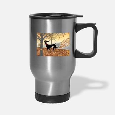 Greyhound Antlers - Travel Mug