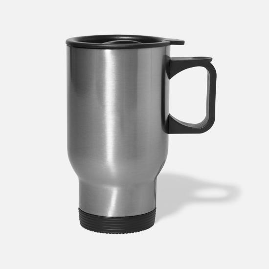 Mopping Mugs & Drinkware - mops white - Travel Mug silver