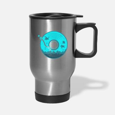 Under Water Vinyl with Under Water Scenery - Travel Mug
