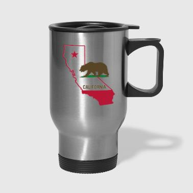 CALIFORNIA STATE WITH STATE BEAR - Travel Mug