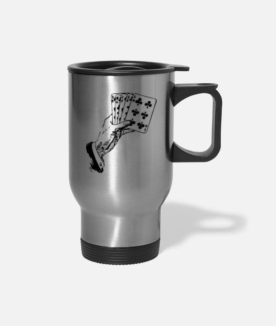 Ass Mugs & Cups - Playing Cards - Travel Mug silver
