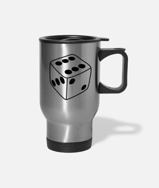 Board Game Mugs & Cups - Dice - Travel Mug silver
