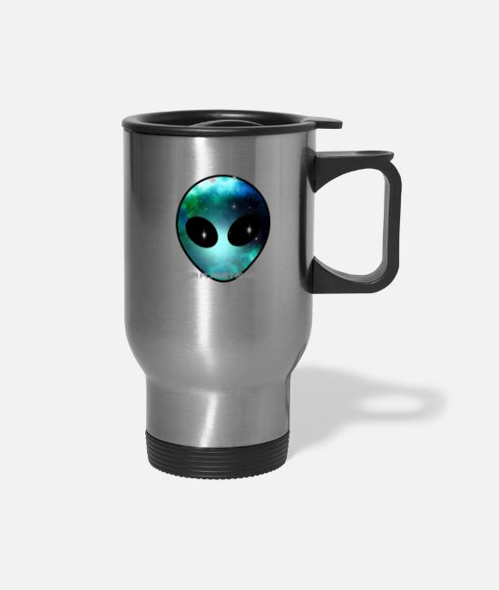 Big Mugs & Cups - storm area 51 run alien big face univers nerd lol - Travel Mug silver