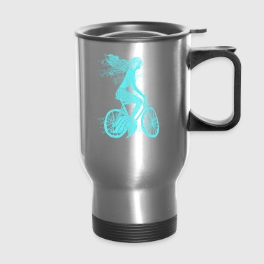 Mermaid on a Bike - Travel Mug