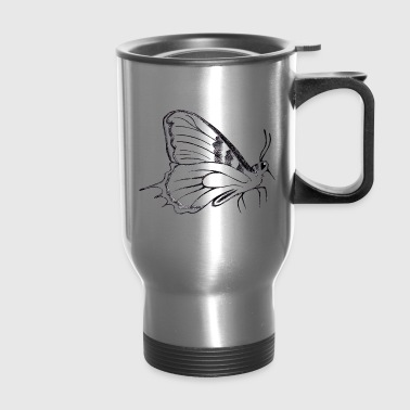 butterfly pen drawing - Travel Mug