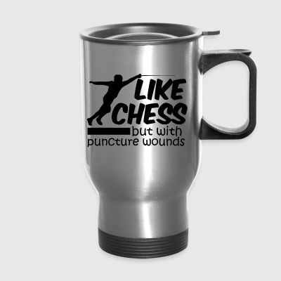 Like chess Btu With Puncture Wounds - Travel Mug