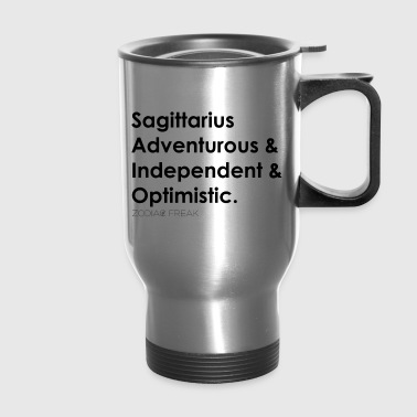 Sagittarius Black - Travel Mug