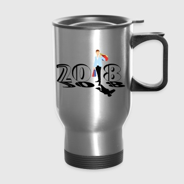 happy new year 2018 - Travel Mug