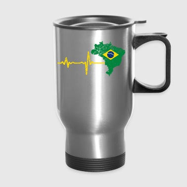 Heartbeat Brazil gift - Travel Mug