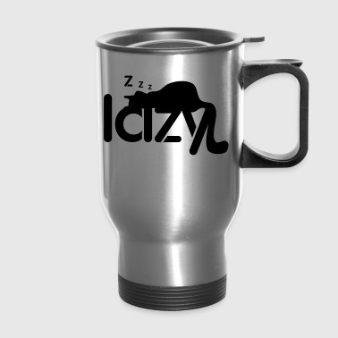 lazy cat - Travel Mug