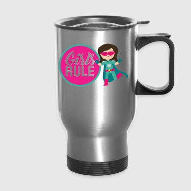 Girls Rule Logo - Travel Mug