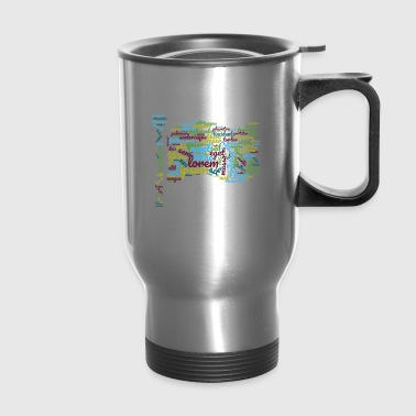 word typography - Travel Mug