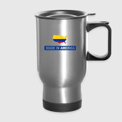 Made In America With Colombian Parts Colombia Flag - Travel Mug