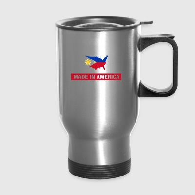 Made In America With Filipino Parts Philippines - Travel Mug