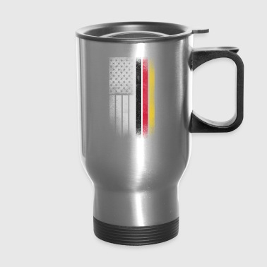 German American Flag - Half German Half American - Travel Mug
