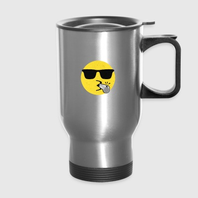 Coach Cool Shades Whistling Referee Fitness Sports - Travel Mug